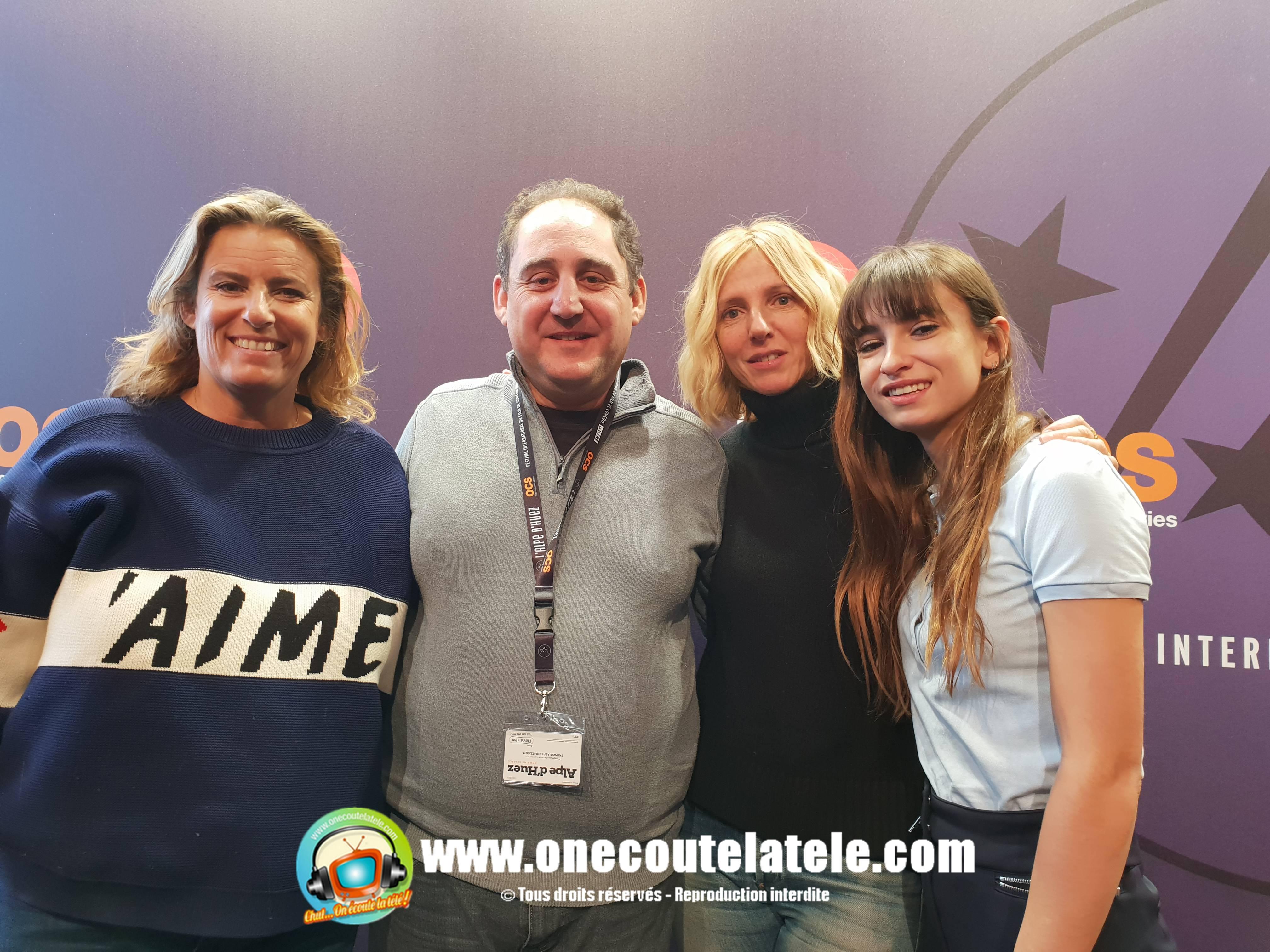 Max Boublil, Alexandra Lamy, Les petits Flocons, Chloé Jouannet, spéciale festival alpe d'huez 2019 ce lundi 21 janvier dans Chut on écoute la télé!
