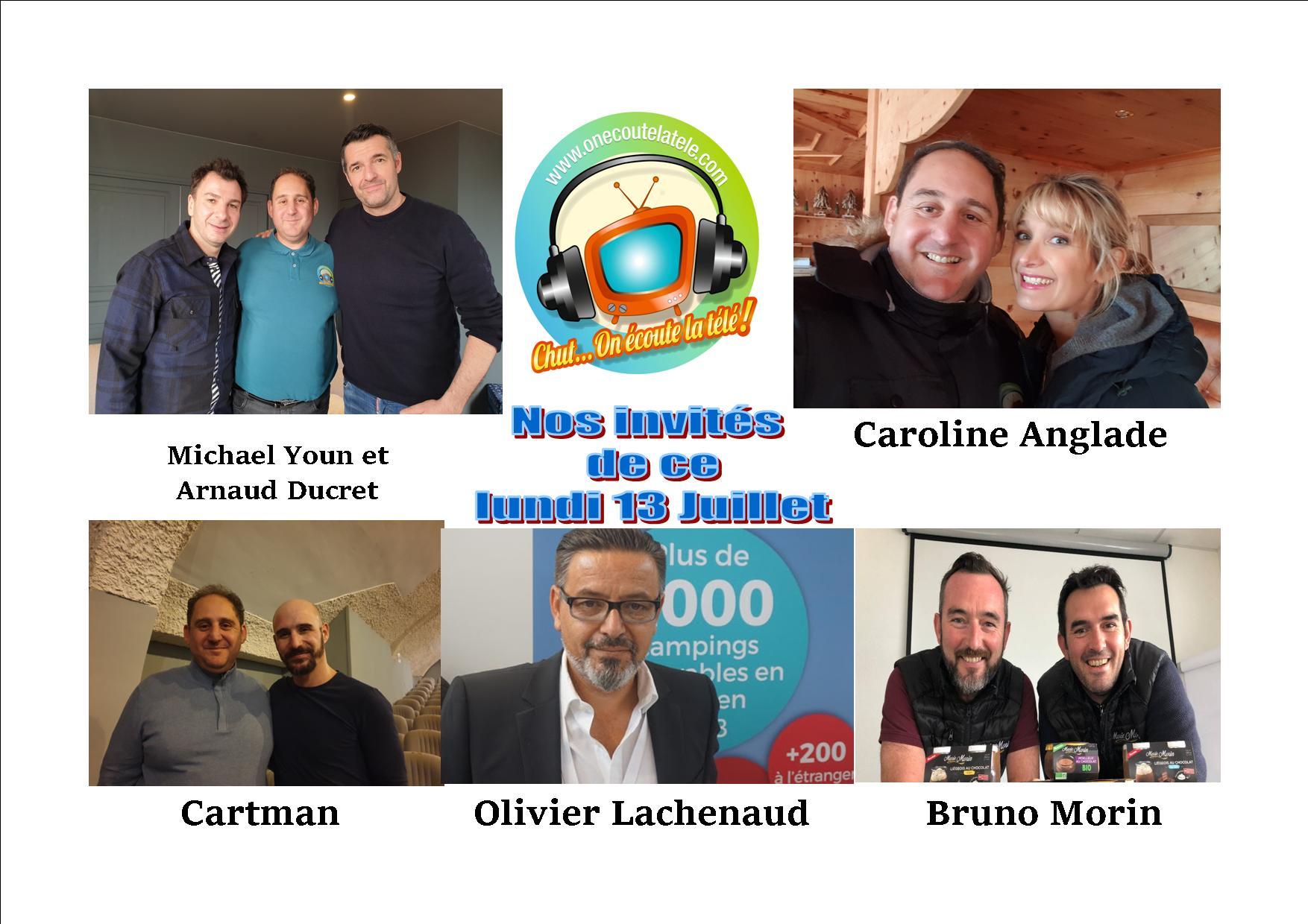 Michael Youn, Arnaud Ducret, Caroline Anglade et Cartman spécial Divorce Club ce lundi 13 juillet dans Chut on écoute la télé