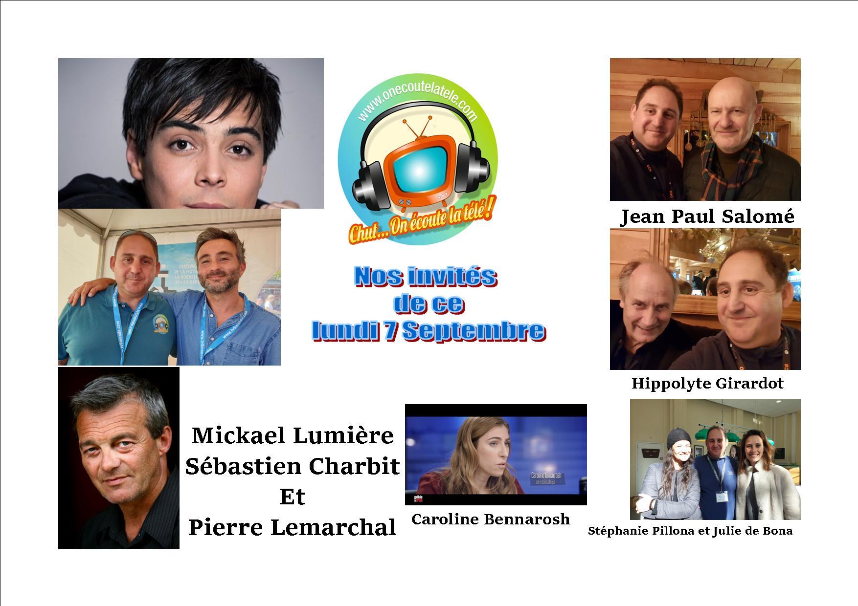 Mickael Lumière, Hippolyte Girardot et Julie de Bona ce lundi 7 septembre dans Chut on écoute la télé