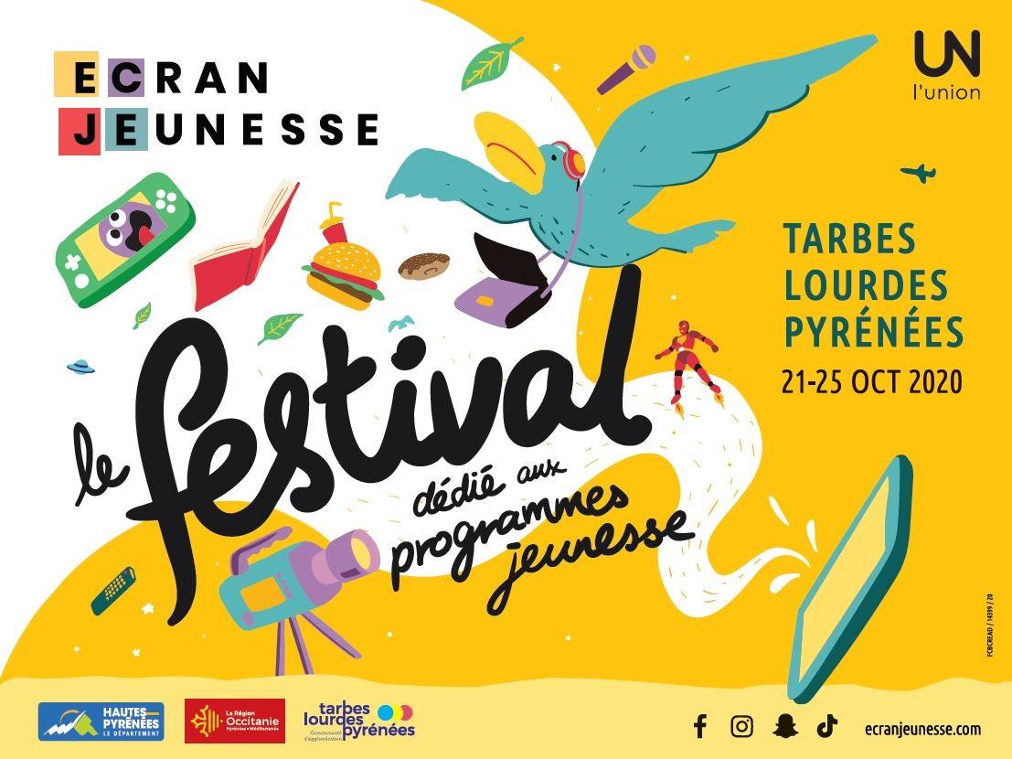 ECRAN JEUNESSE: le 1er festival dédié aux programmes jeunesse se tiendra à Tarbes et Lourdes du 21 au 25 octobre , voici le programme