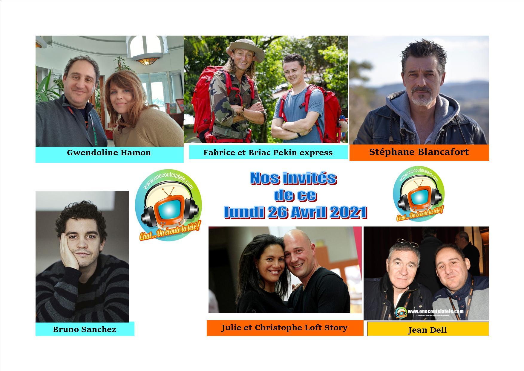 Voici nos podcasts de nos émissions de ce lundi 26 avril avec Bruno Sanchez, Stéphane Blancafort, Gwendoline Hamon, Jean Dell, Fabrice et Briac et notre spéciale Loft Story