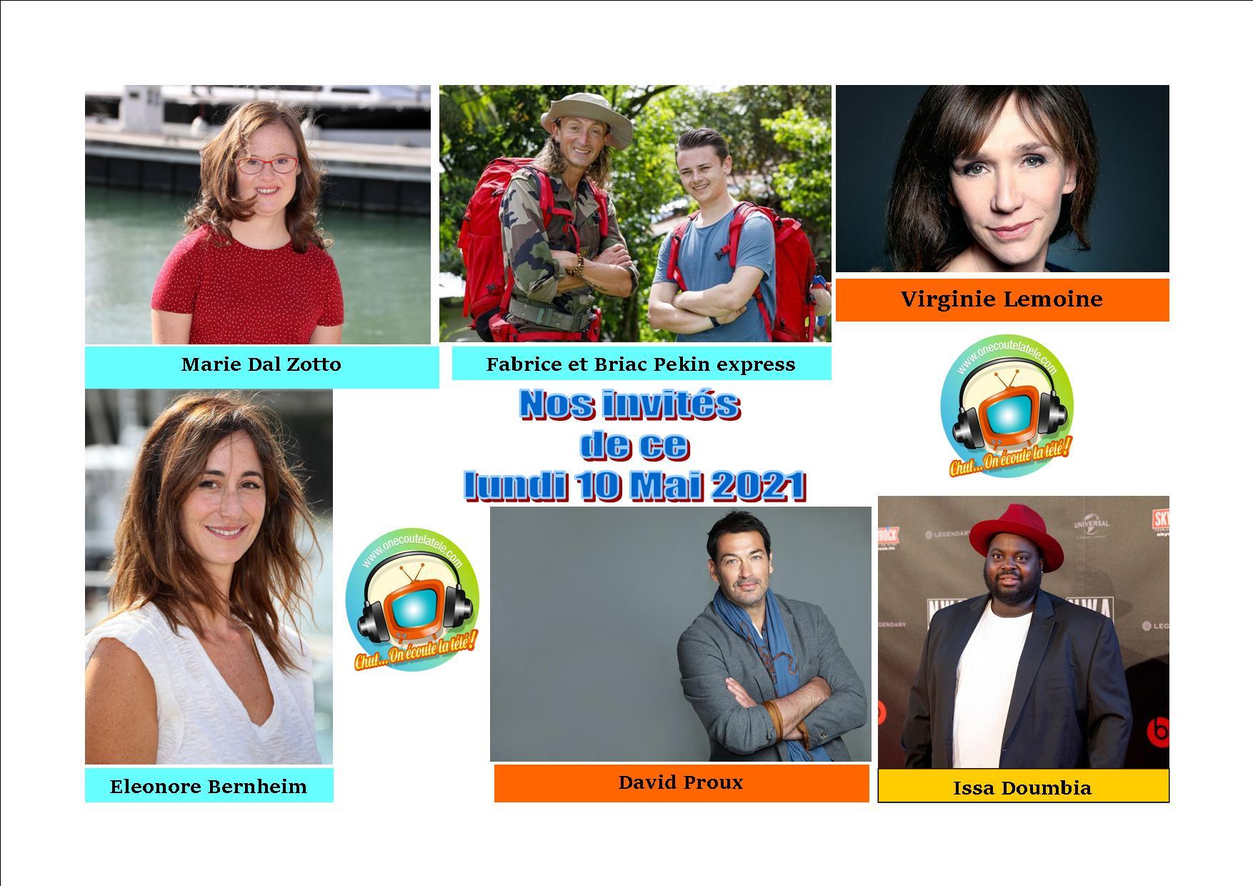 Voici nos podcasts de nos émissions Chut on écoute la télé de ce lundi 10 mai avec Issa Doumbia, Virginie Lemoine, David Proux, Marie Dal Zotto et Eléonore Bernheim