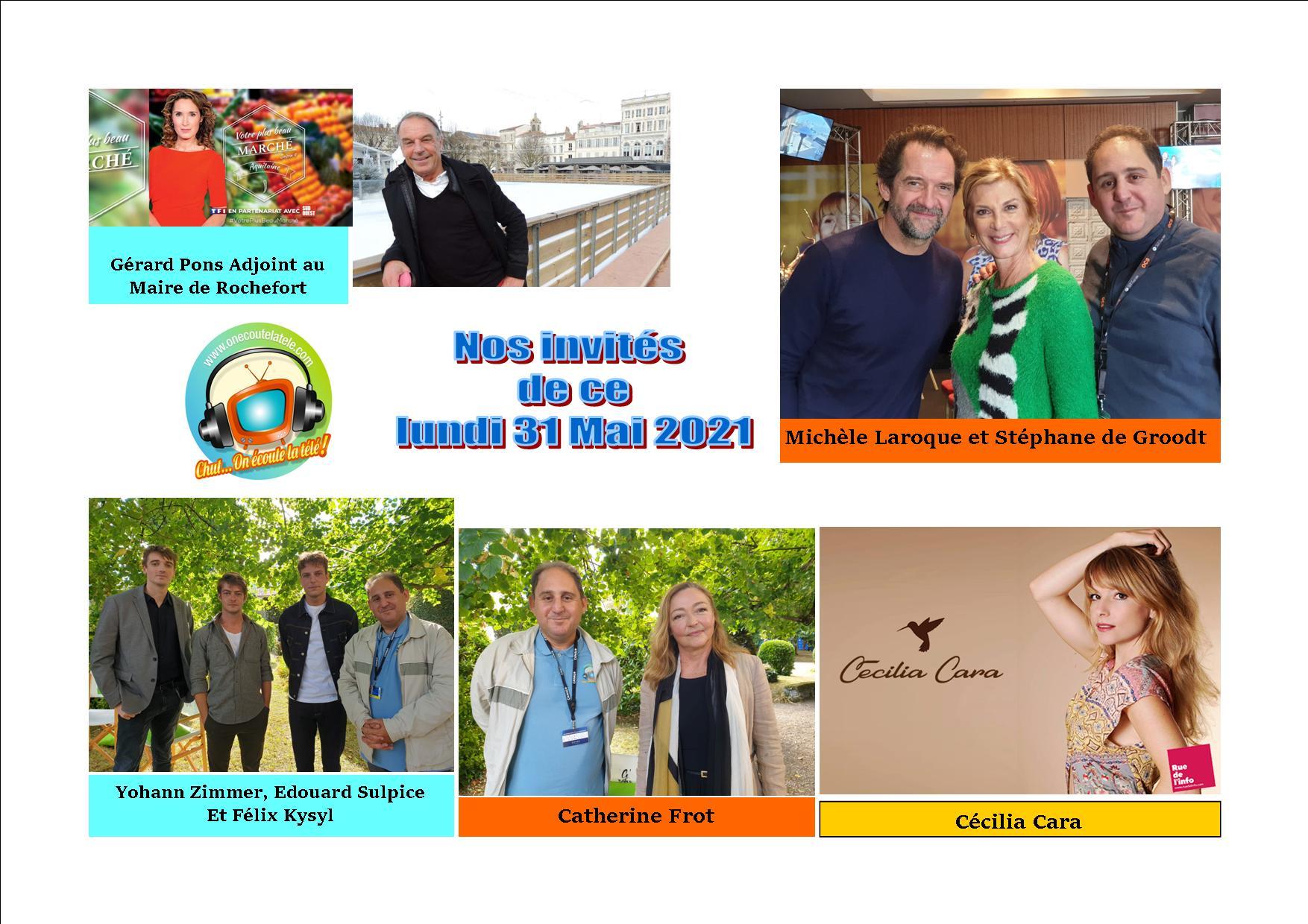 Michèle Laroque, Stéphane de Groodt, Cécilia Cara et Catherine Frot ce lundi 31 Mai dans Chut on écoute la télé